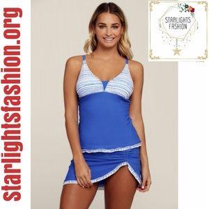 Blue Summer Fashion 2pcs Tankini Bathing Suit
